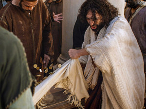 Jesus Overturns the Money Changers Tables in the Temple